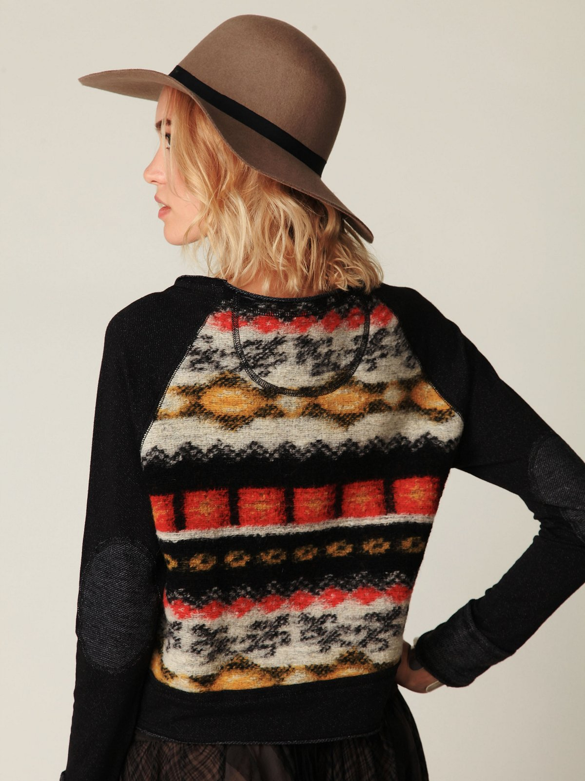 Heavy Knit Pieced Sweater