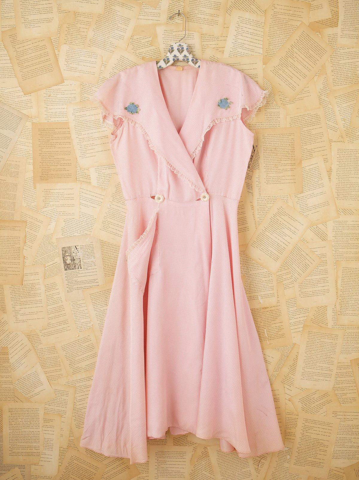 Vintage Gingham Kitchen Dress