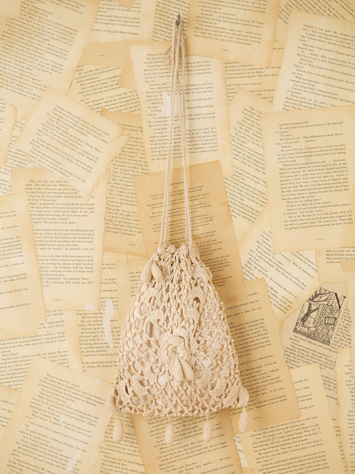 Vintage Victorian Crochet Bag