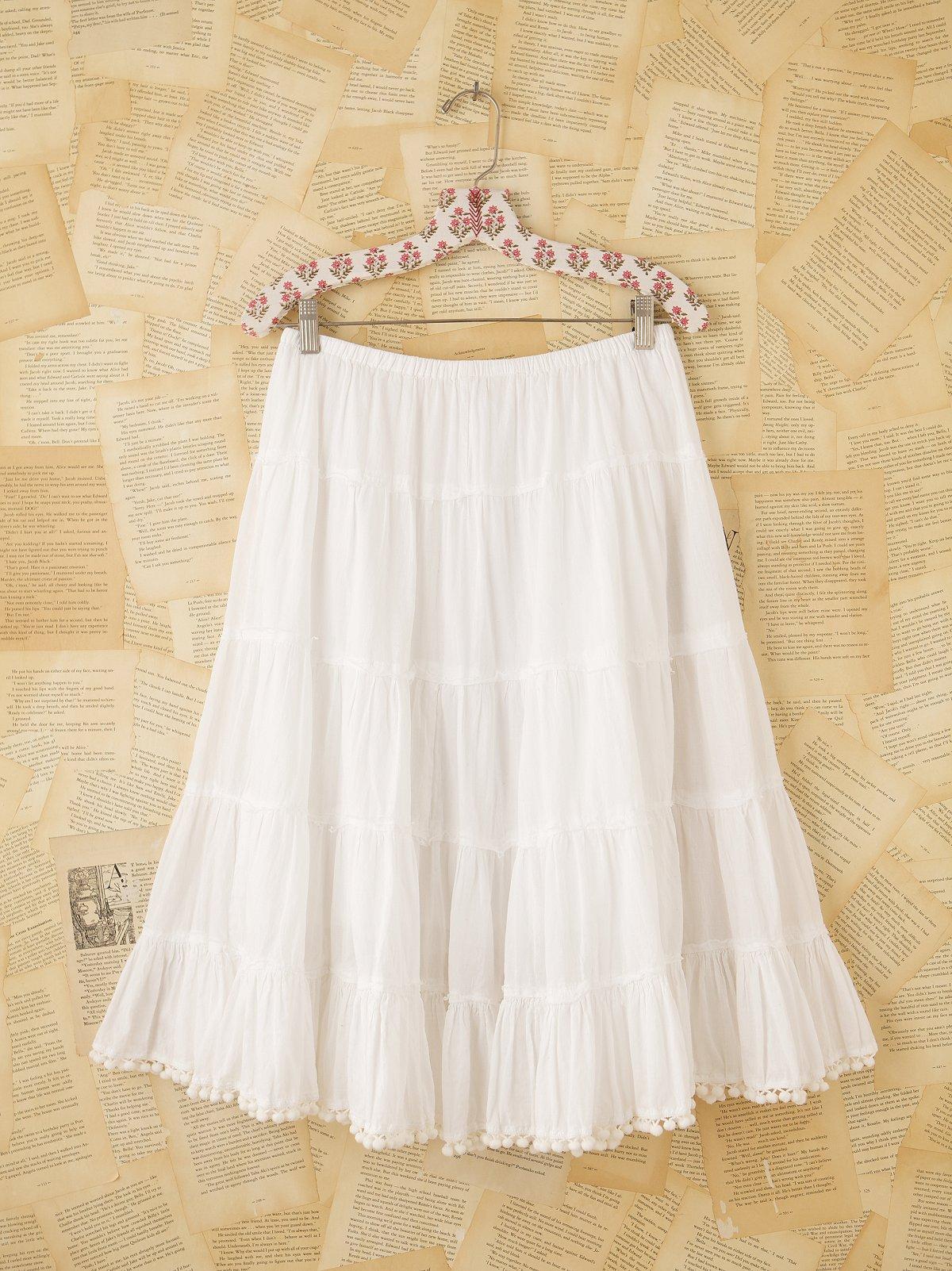 Vintage Pompom Skirt
