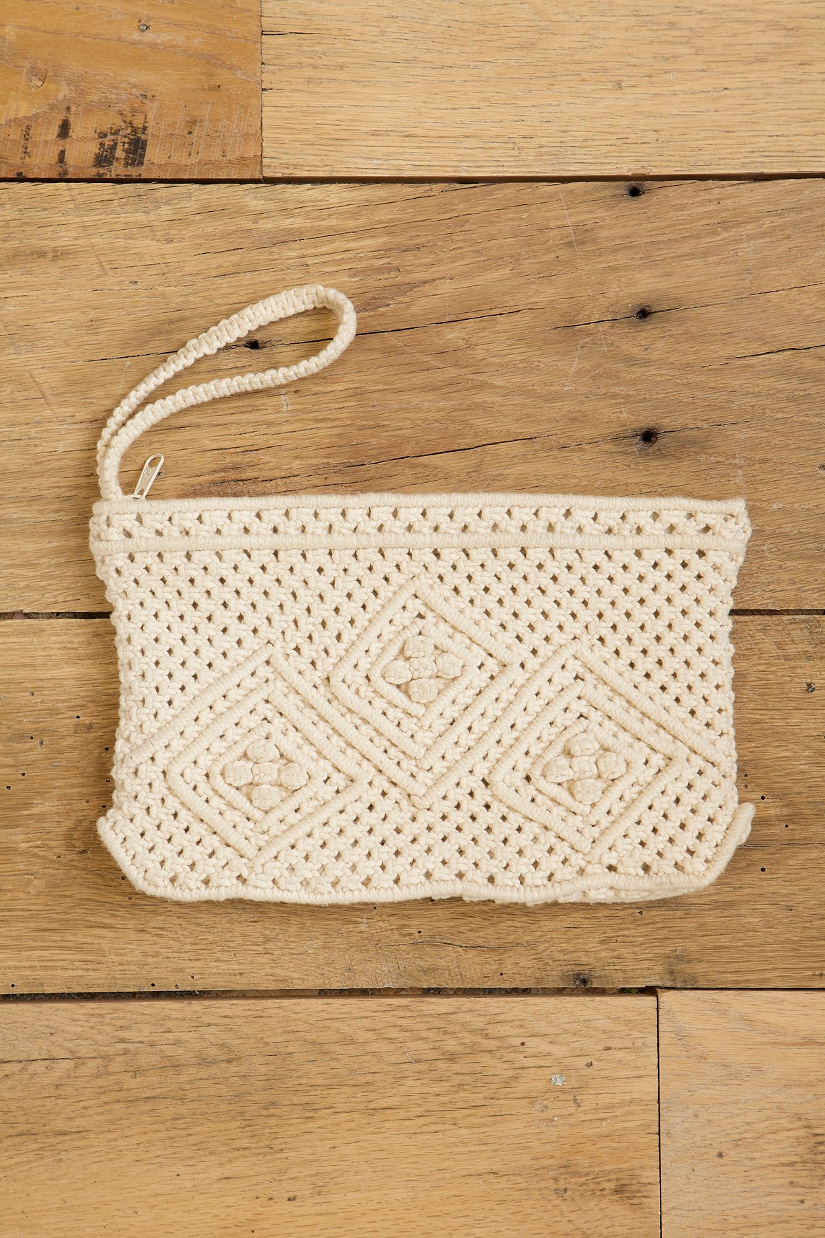 Vintage Macrame Wrist Bag