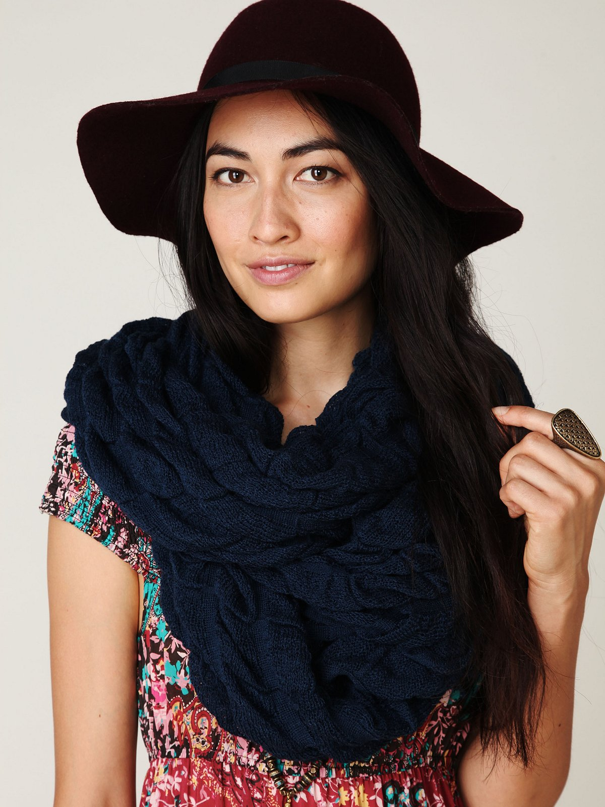 Selvage Ruched Scarf