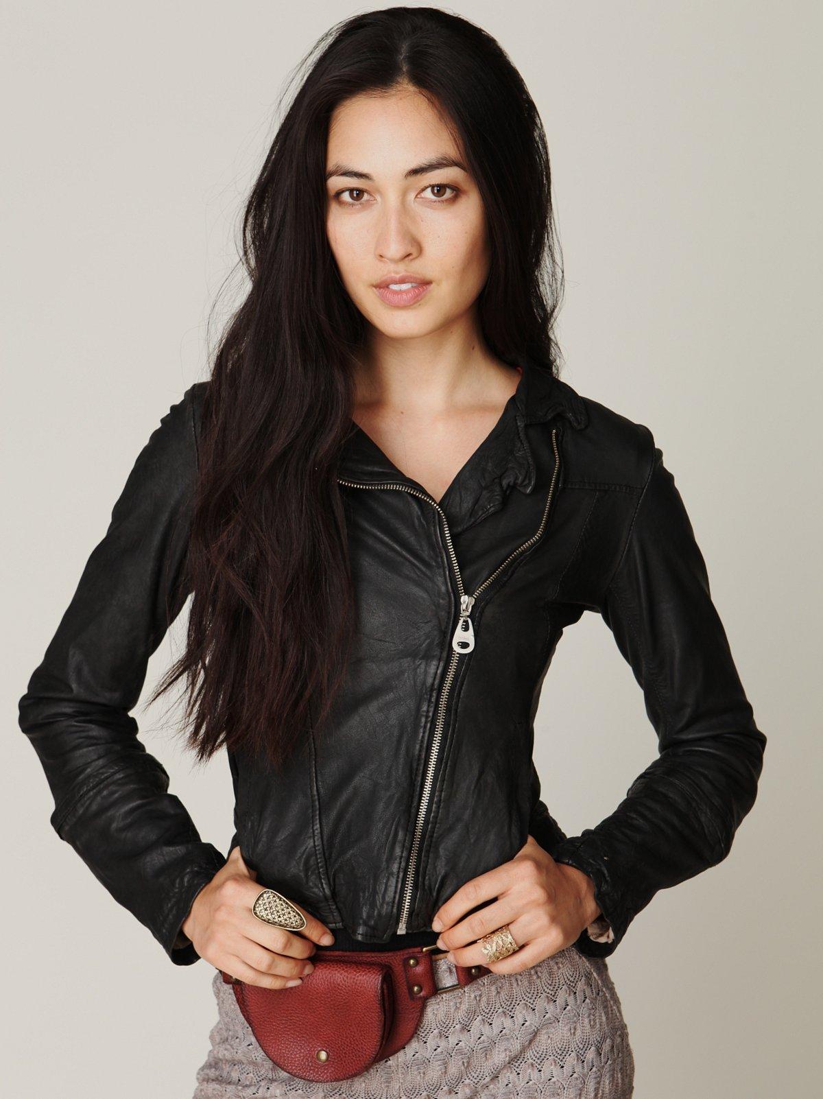 Detachable Fur Leather Jacket