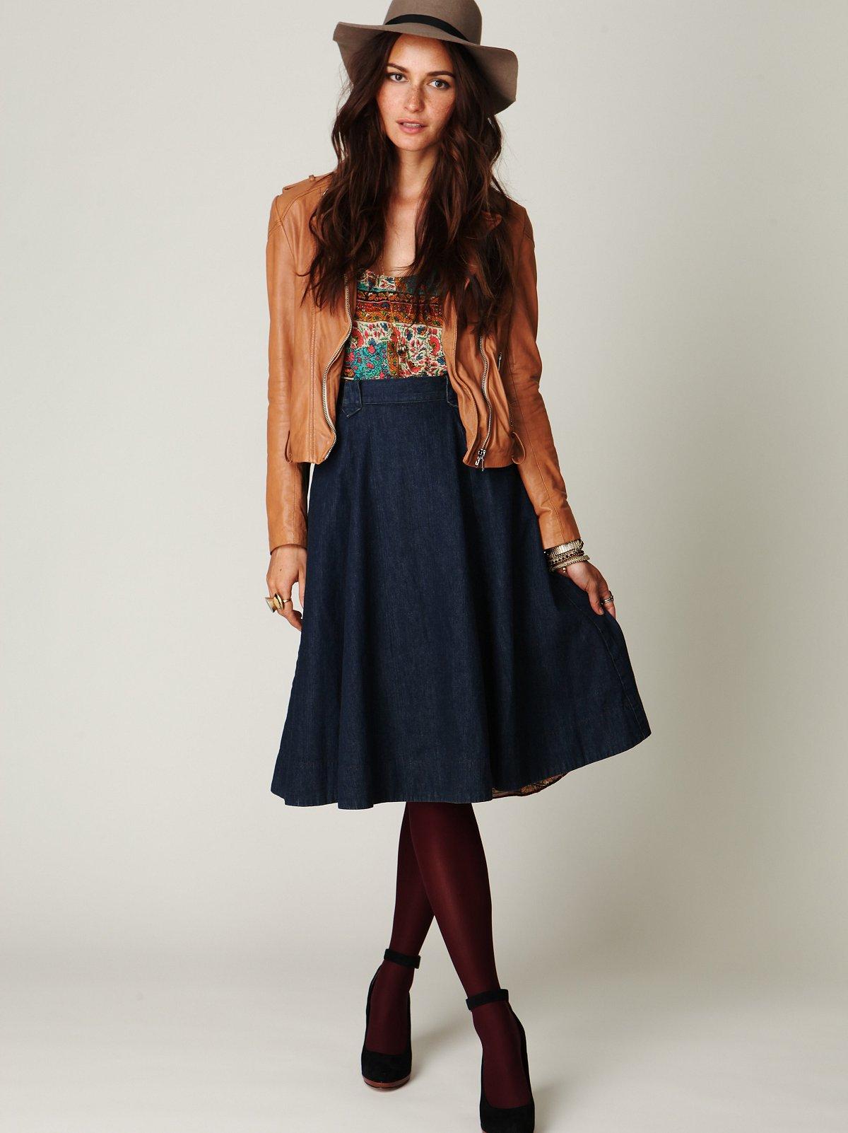 Tea Time Denim Skirt