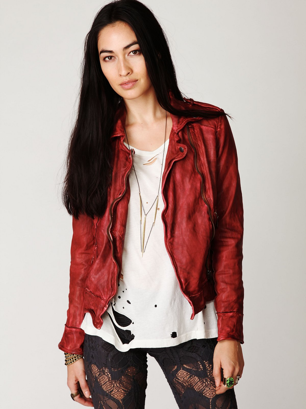 Muubaa Vintage Leather Jacket