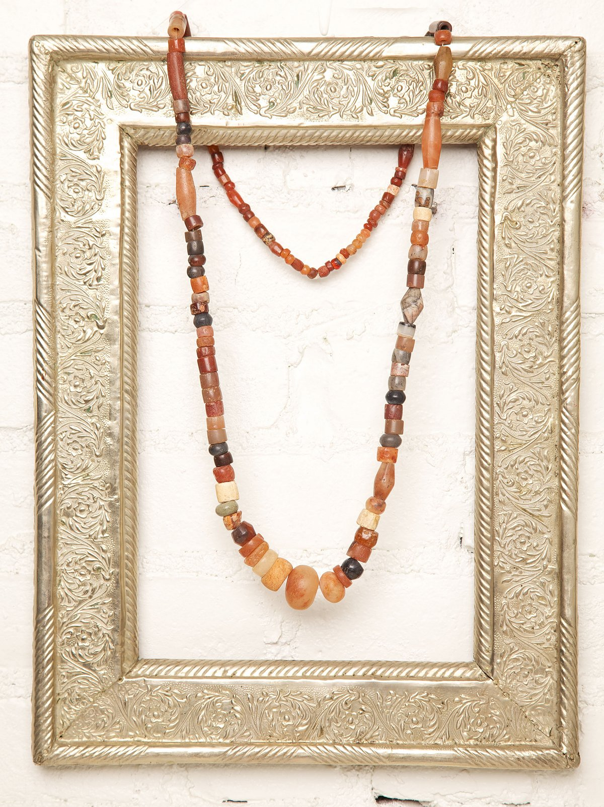 Vintage Beaded Stone Necklace