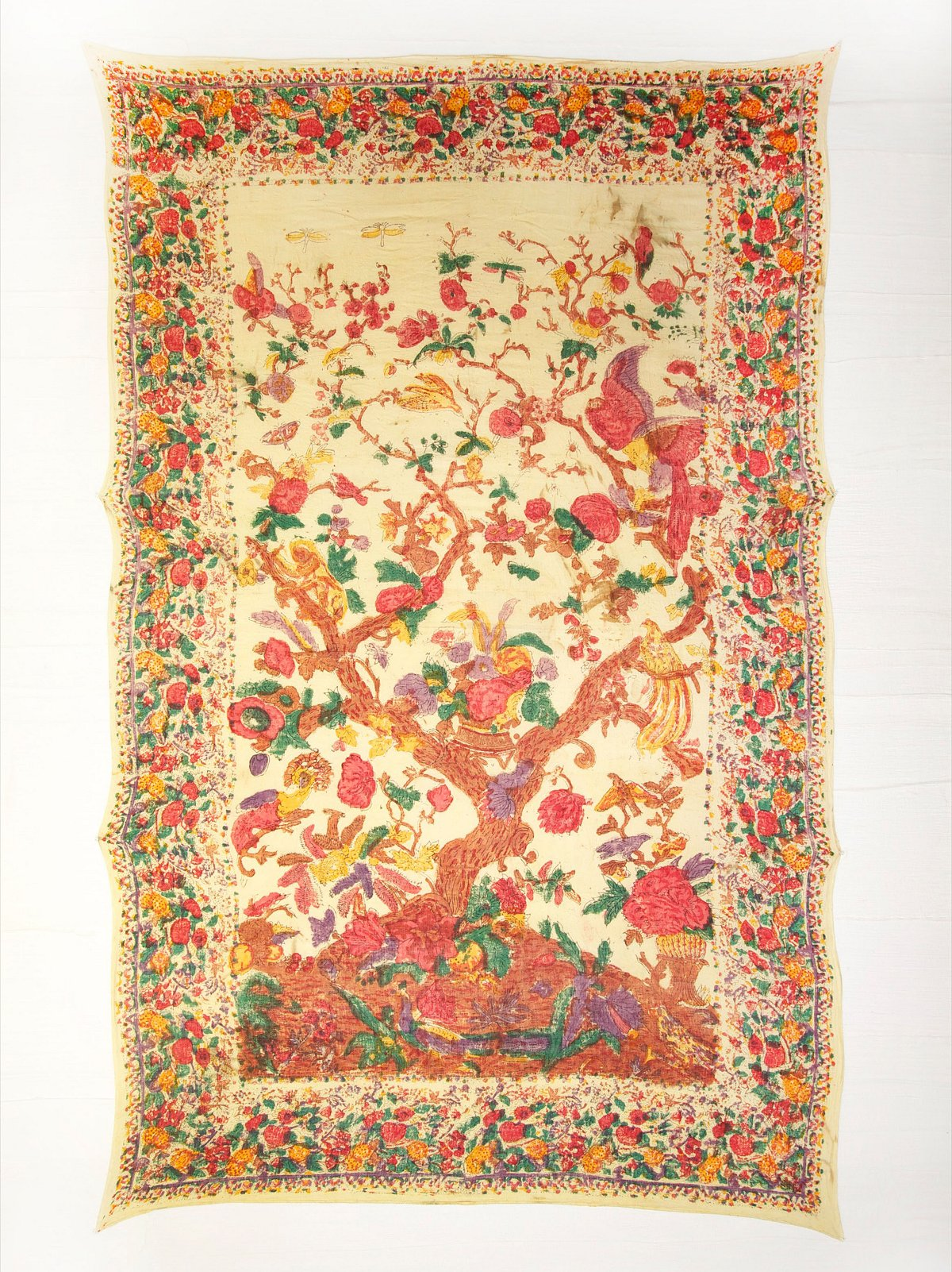 Vintage Hand Painted Tapestry