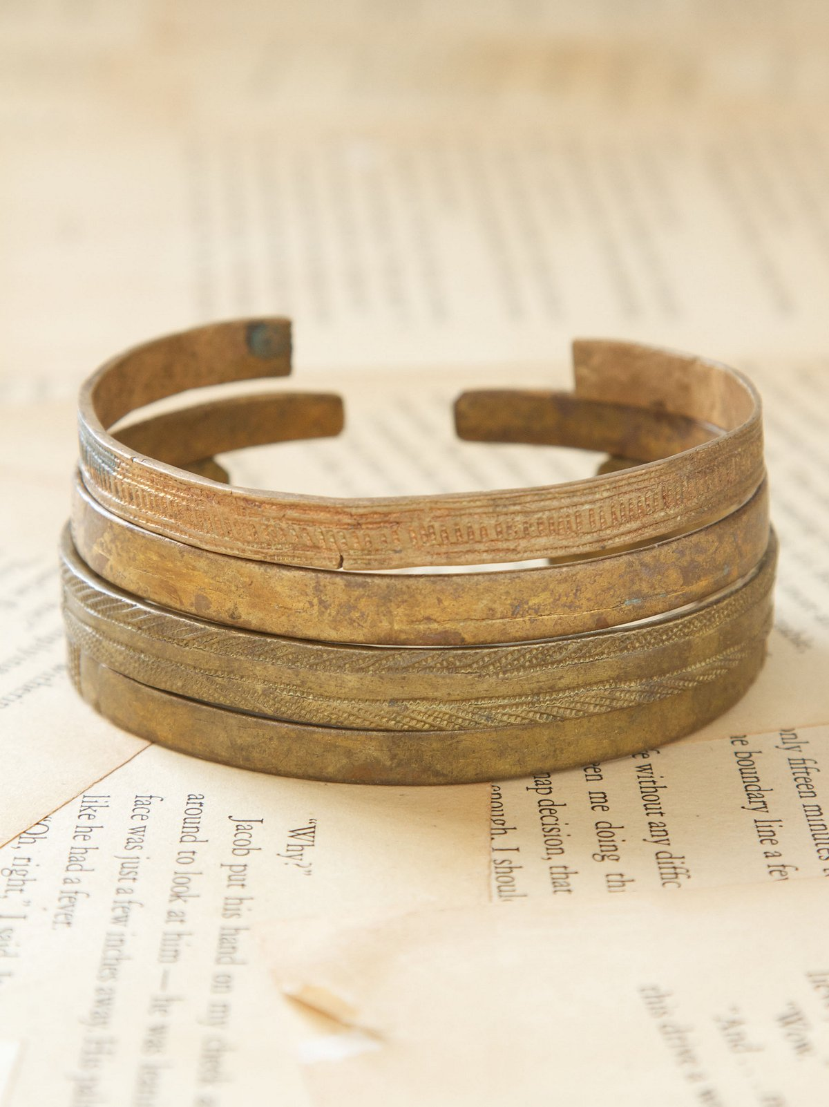 Vintage Brass Arm Bangles