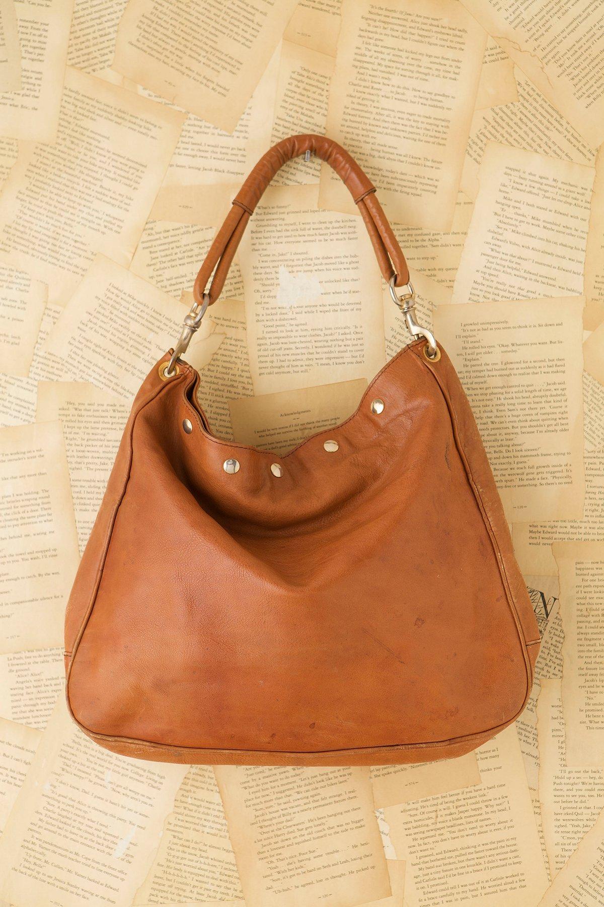 Vintage Leather Hobo Bag