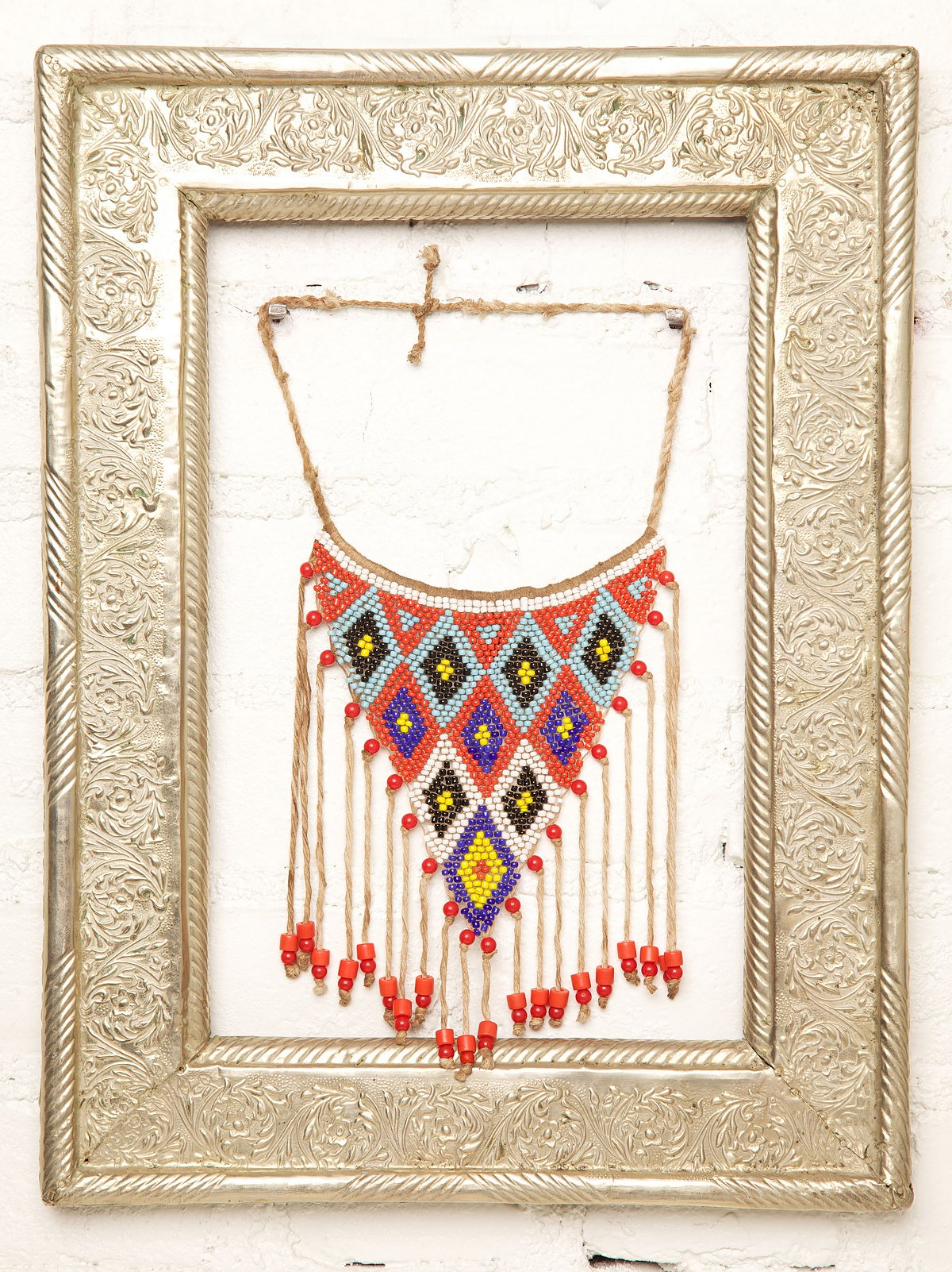 Vintage Beaded Triangle Necklace