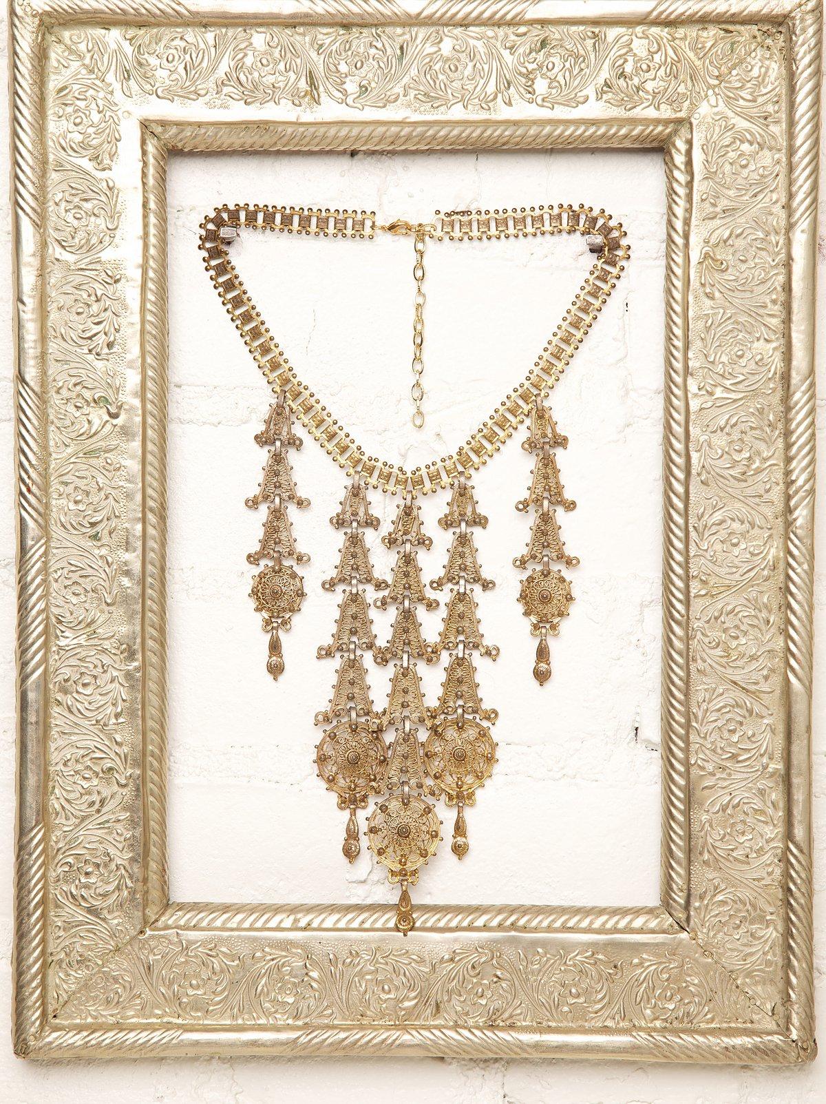Vintage Gold Drop Necklace