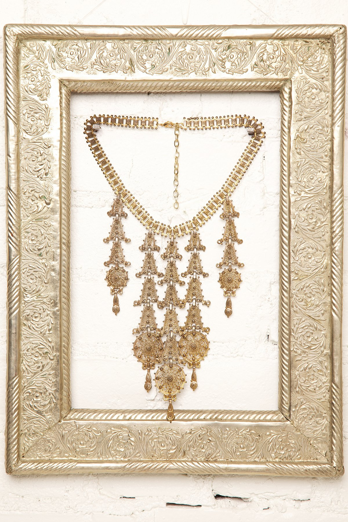 Vintage Gold Drop Necklace