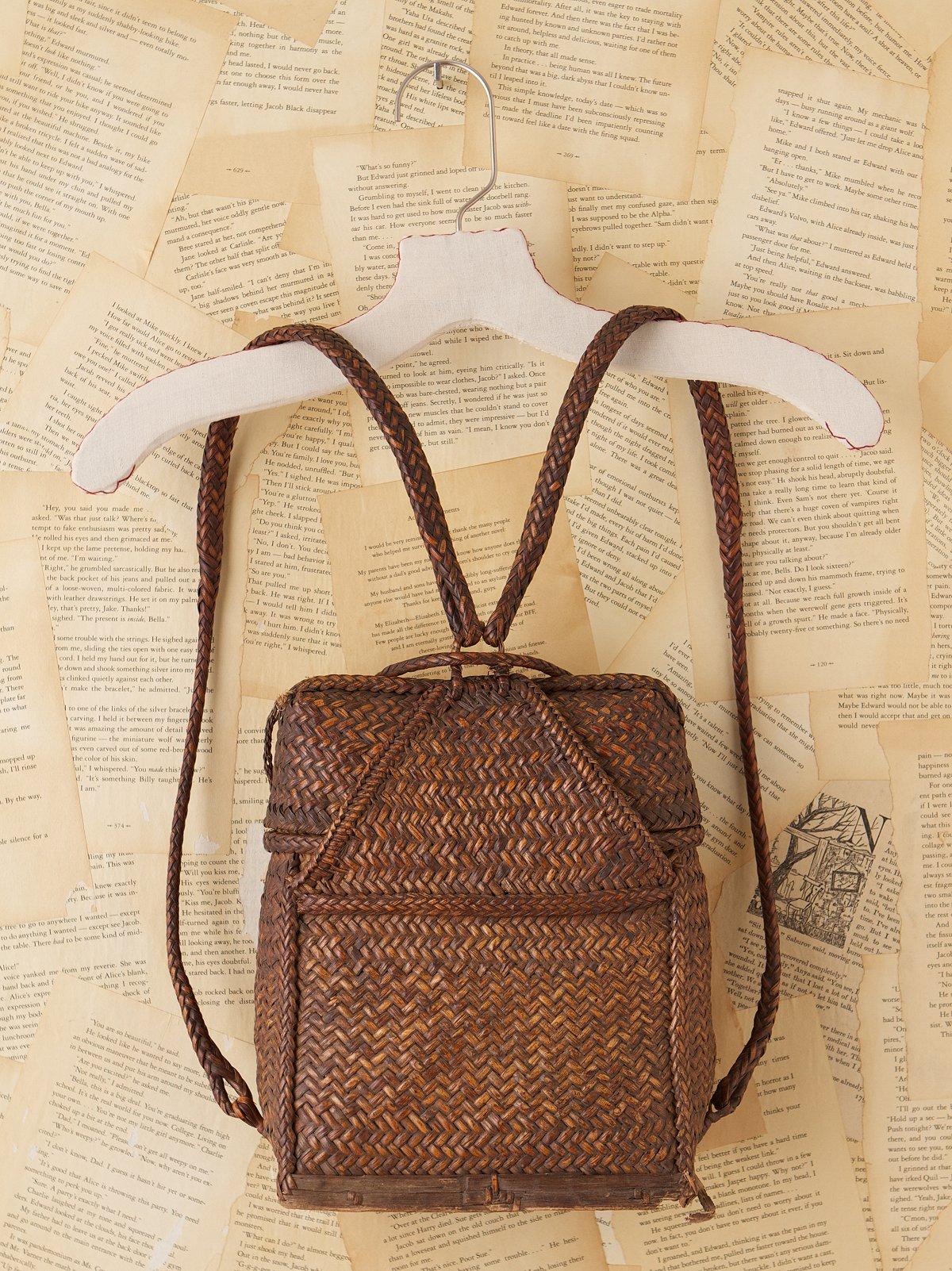 Vintage Wicker Backpack