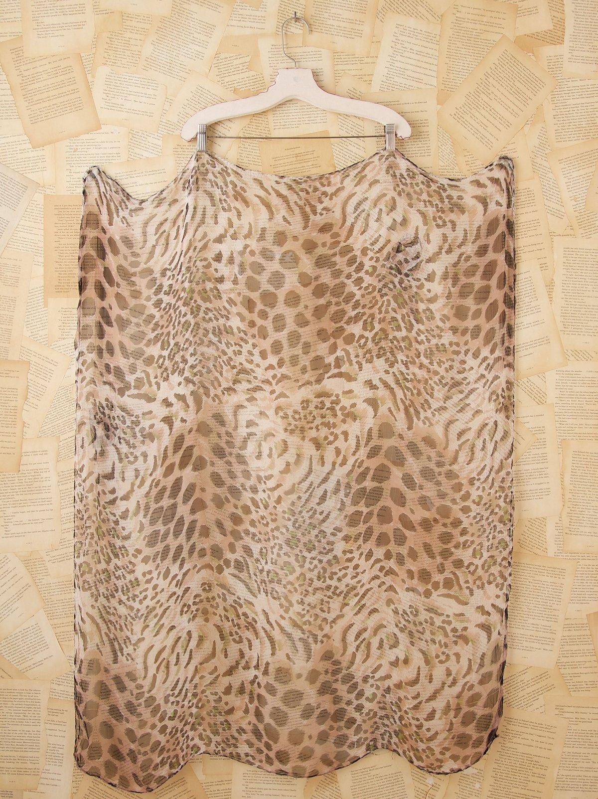 Vintage Leopard Scarf