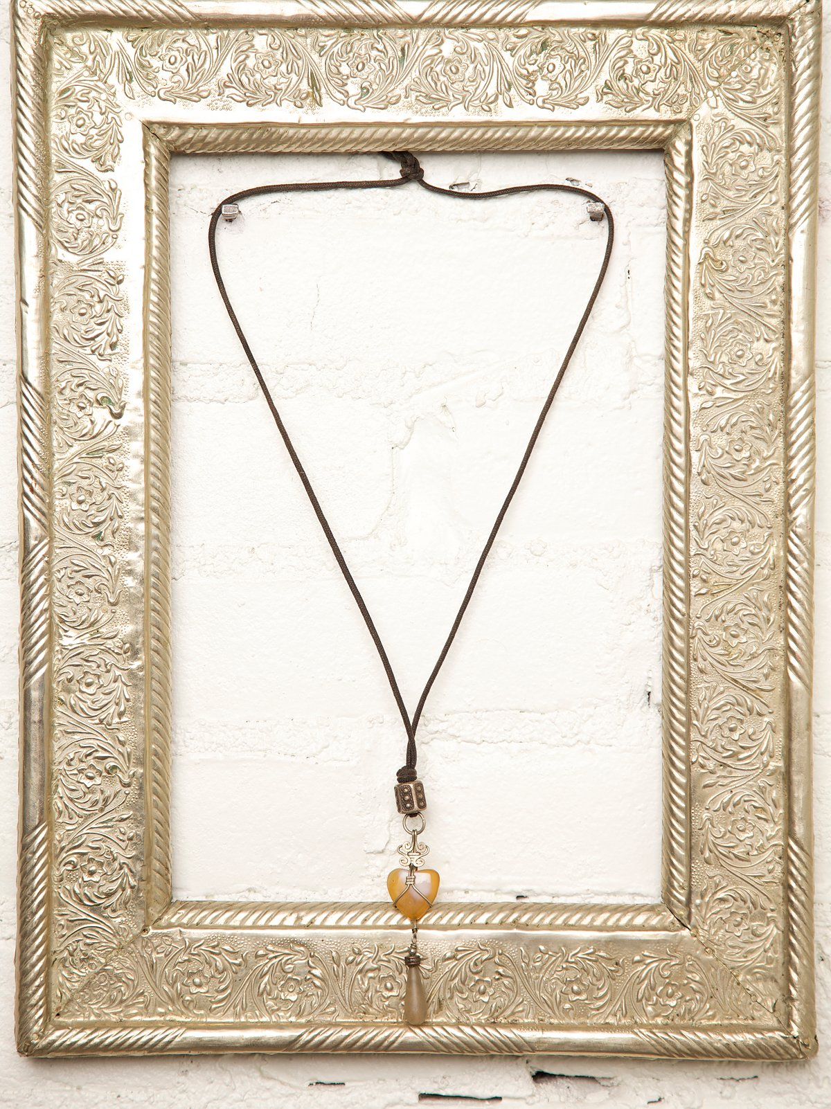 Vintage Yellow Stone Necklace
