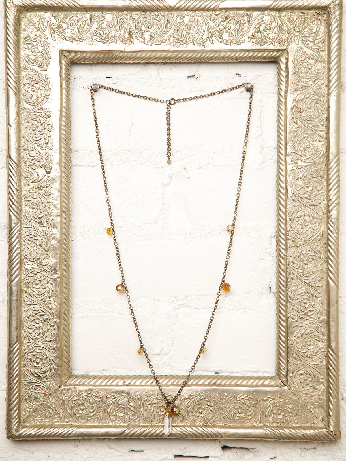 Vintage Crystal Stone Necklace