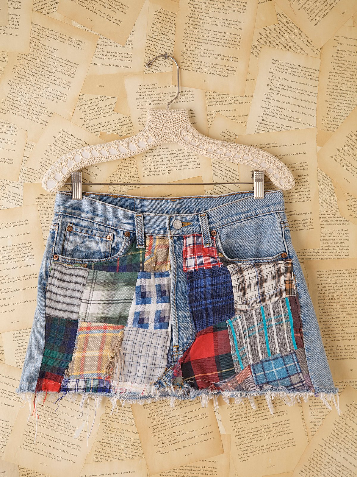 Vintage Levi's Plaid Front Mini