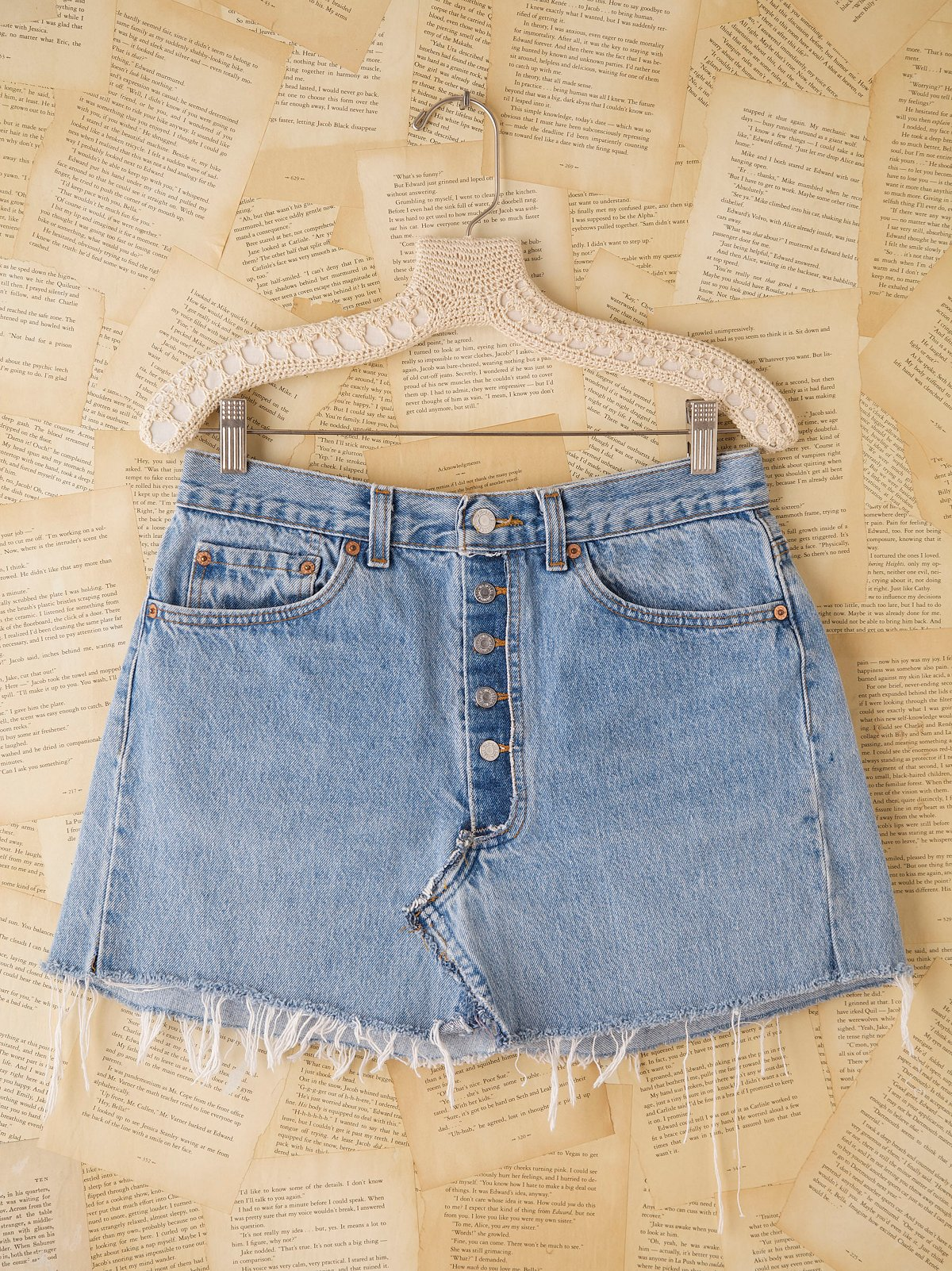 Vintage Levi's Buttonfly Mini Skirt