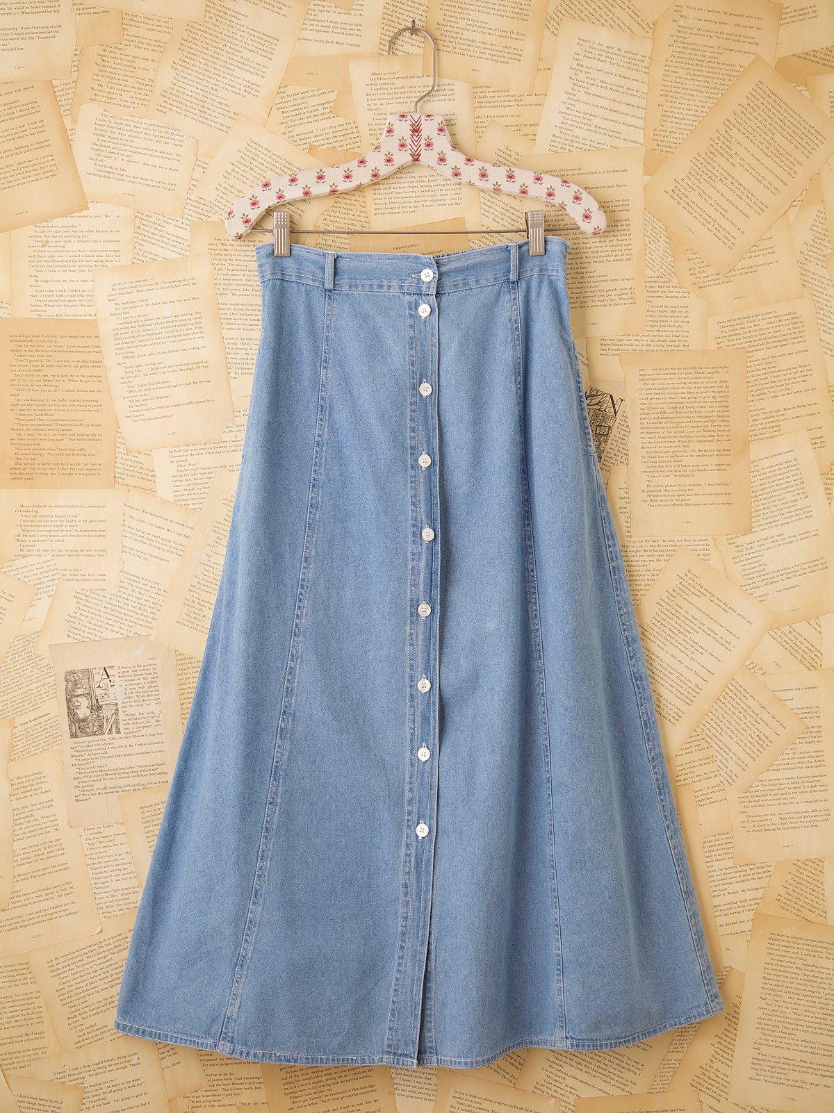 Vintage Denim Buttonfront Skirt