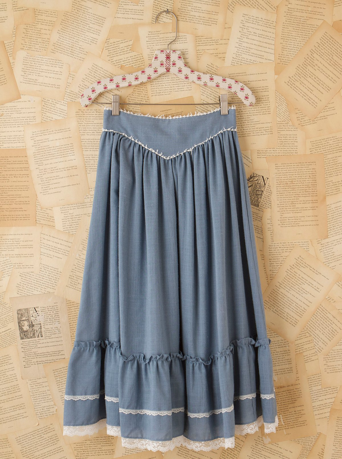 Vintage Chambray Prairie Skirt