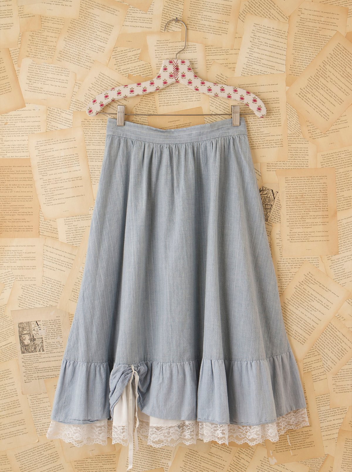 Vintage Chambray Prairie Skirt