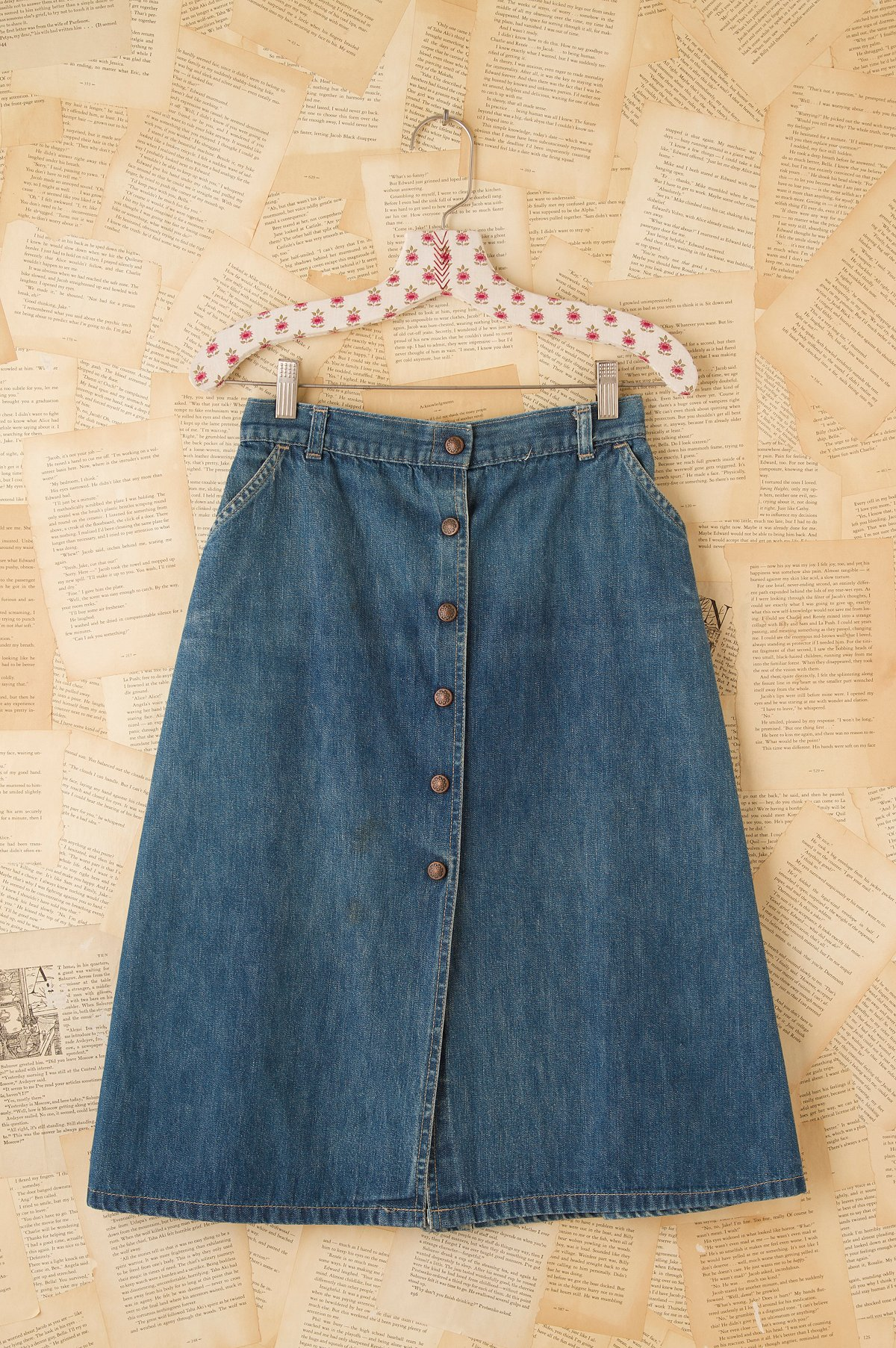 Vintage 1960s Snap Front Skirt