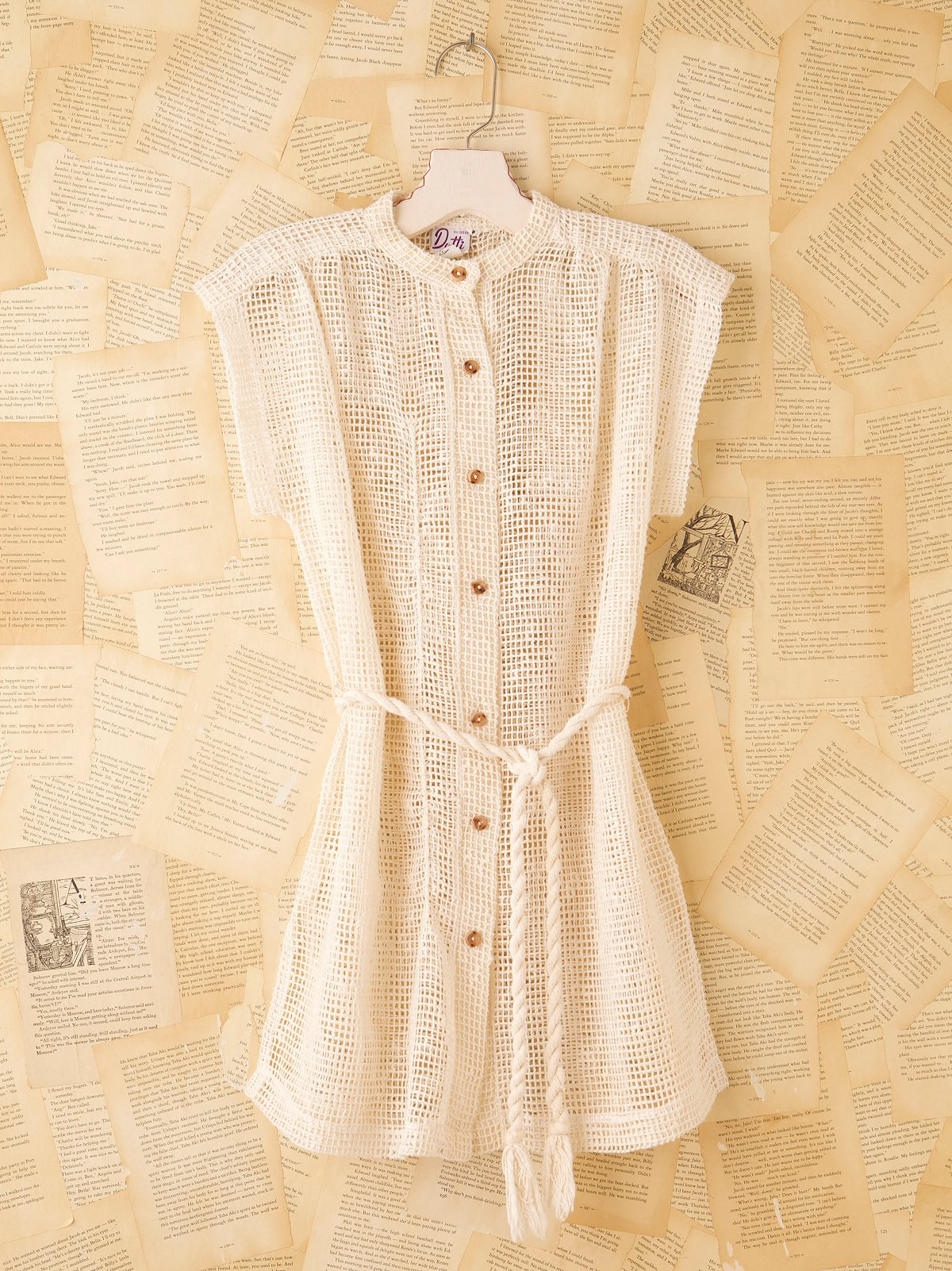 Vintage Gauze Sweater With Rope