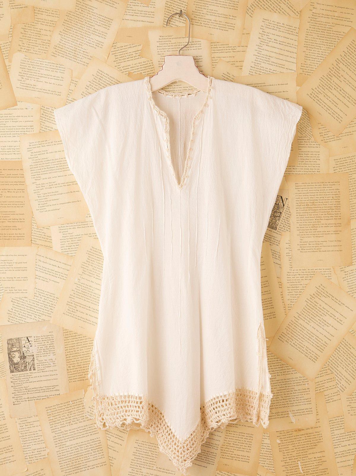 Vintage Linen Cover Up