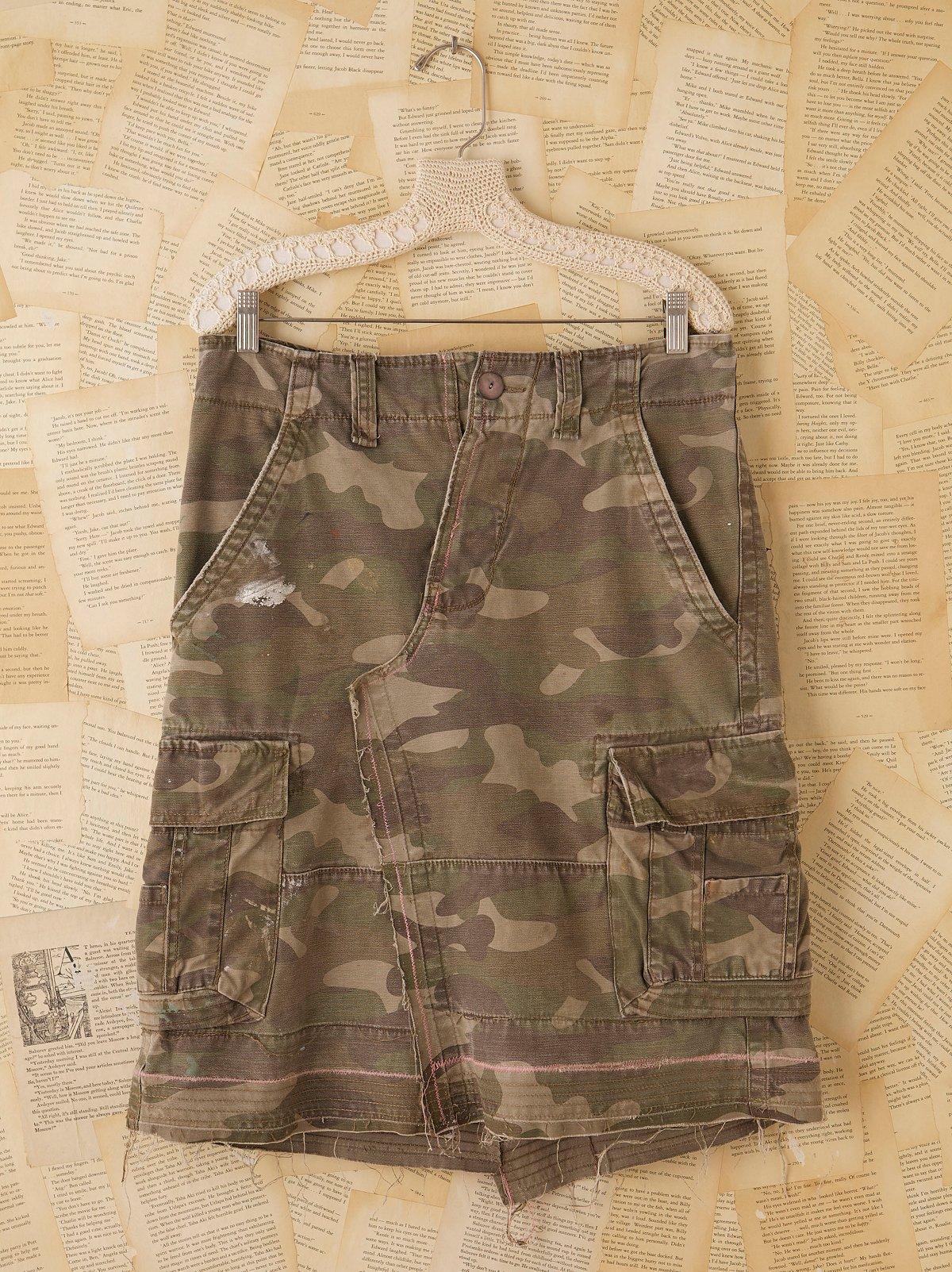 Vintage Camouflage Skirt