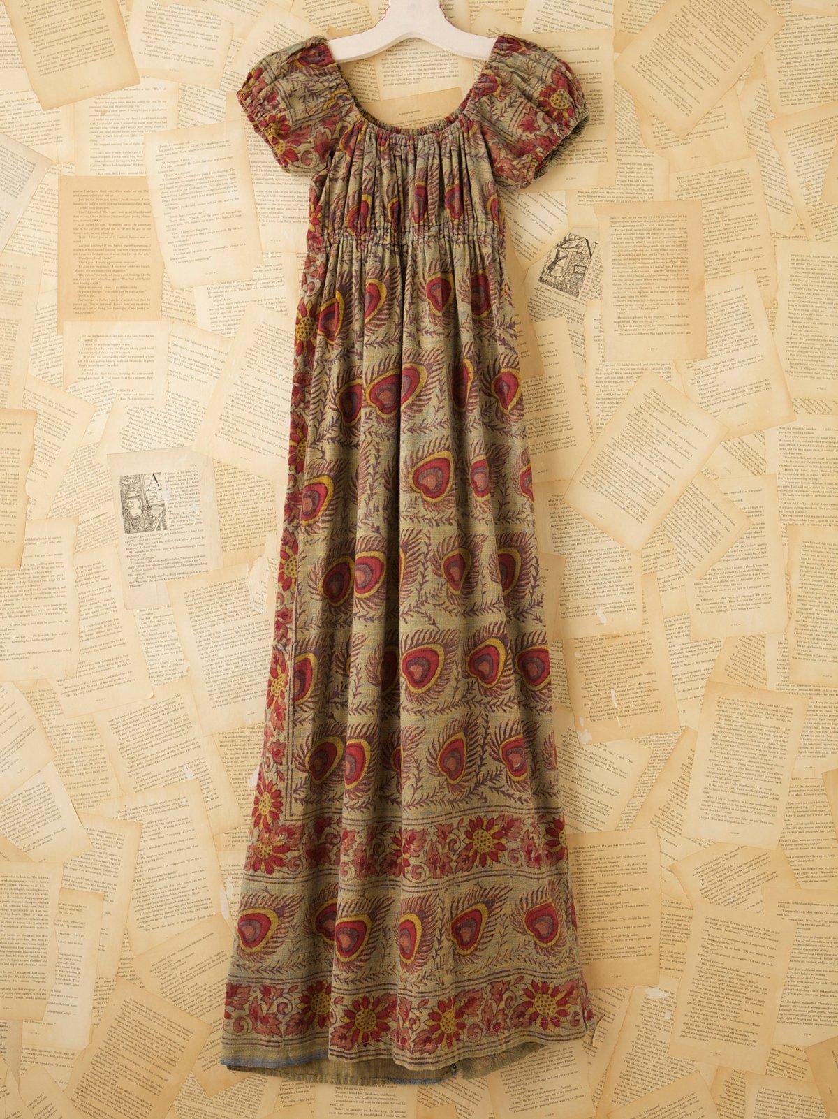 Vintage Printed Batik Dress