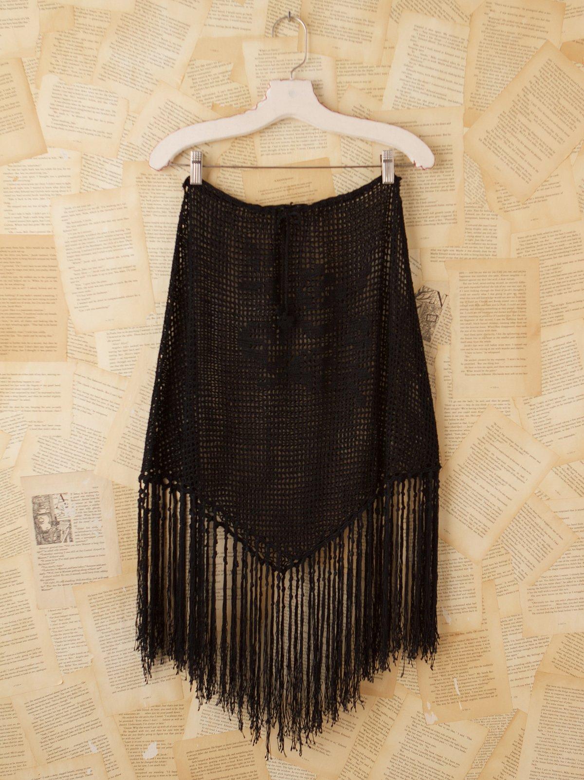 Vintage Crochet Fringe Skirt