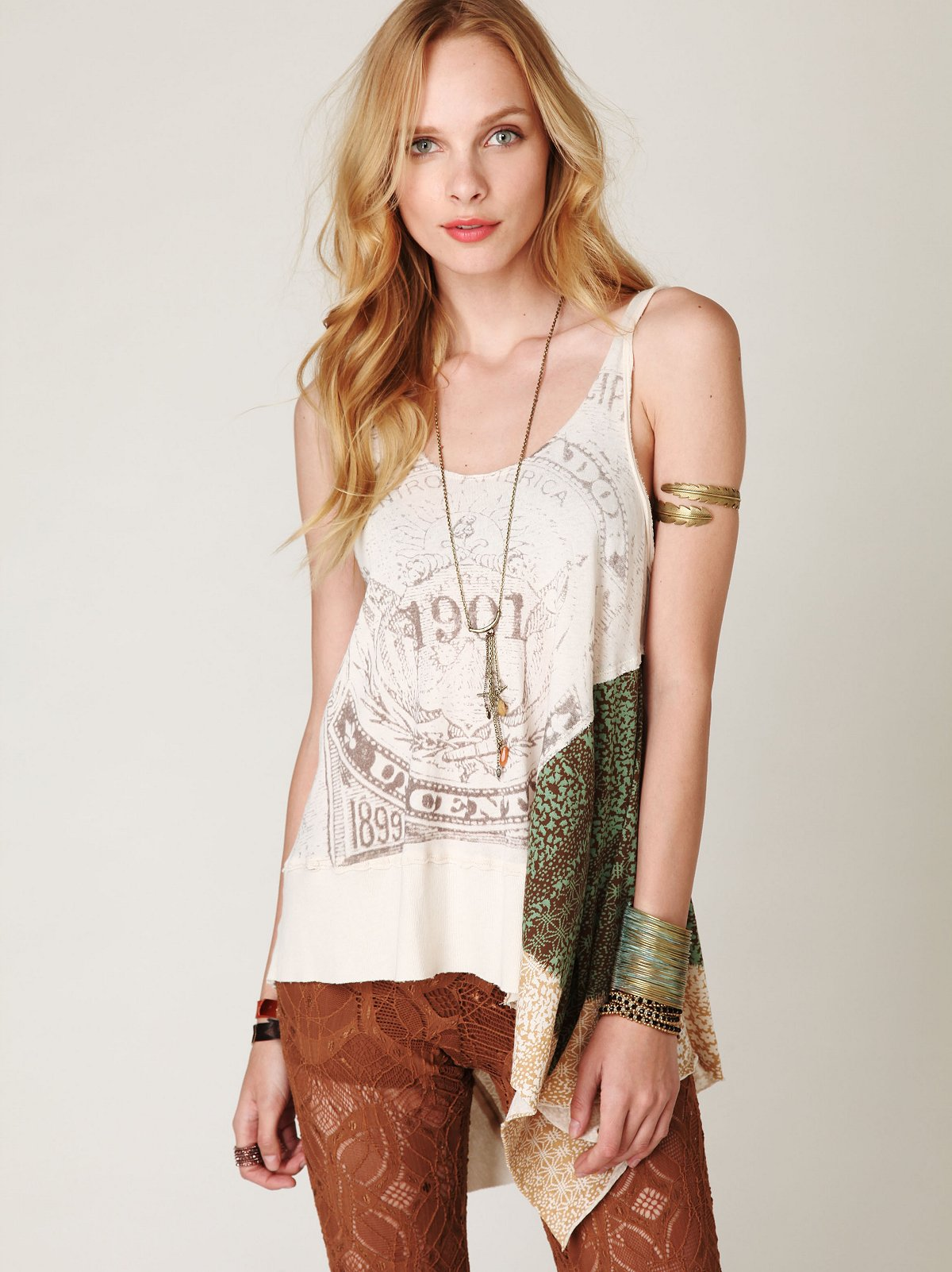 We The Free Graphic Scarf Tunic