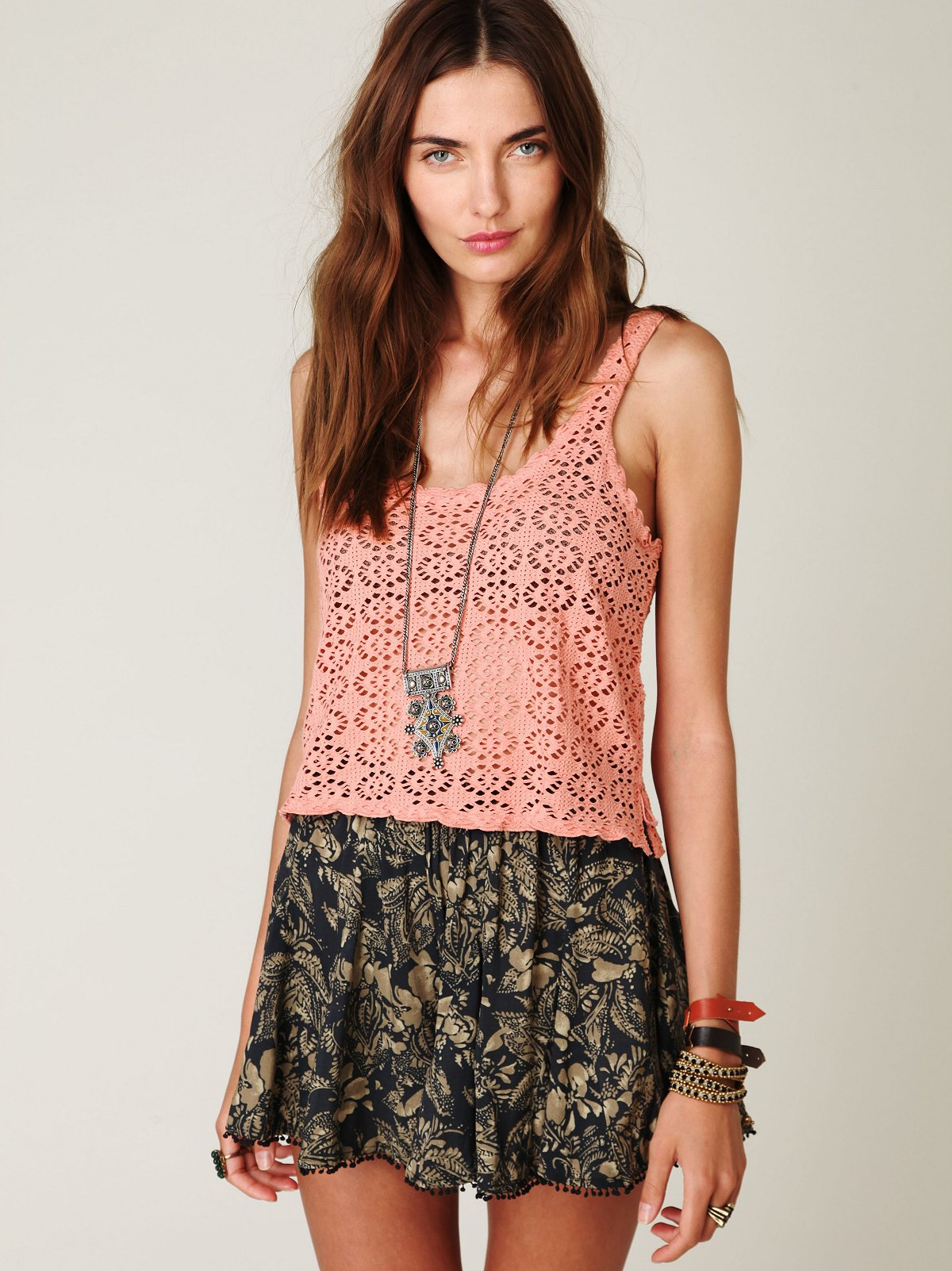Printed Shorts with Trim