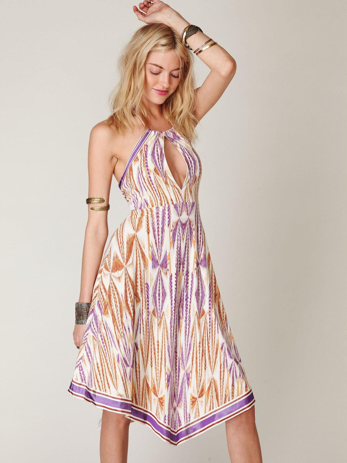 Slinky Knit Printed Halter Dress