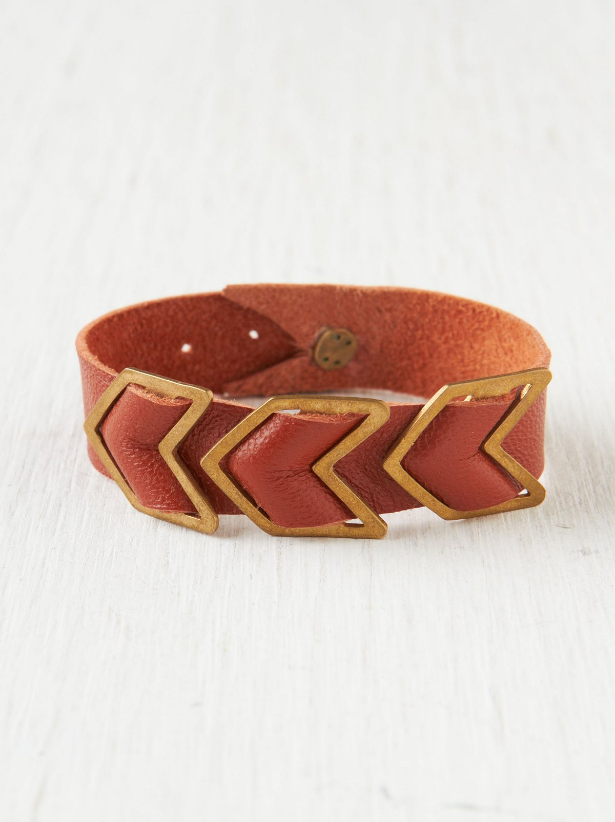 Chevron Leather Bracelet