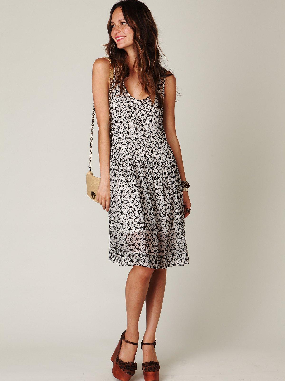 Sheer Tea Length Tank Dress