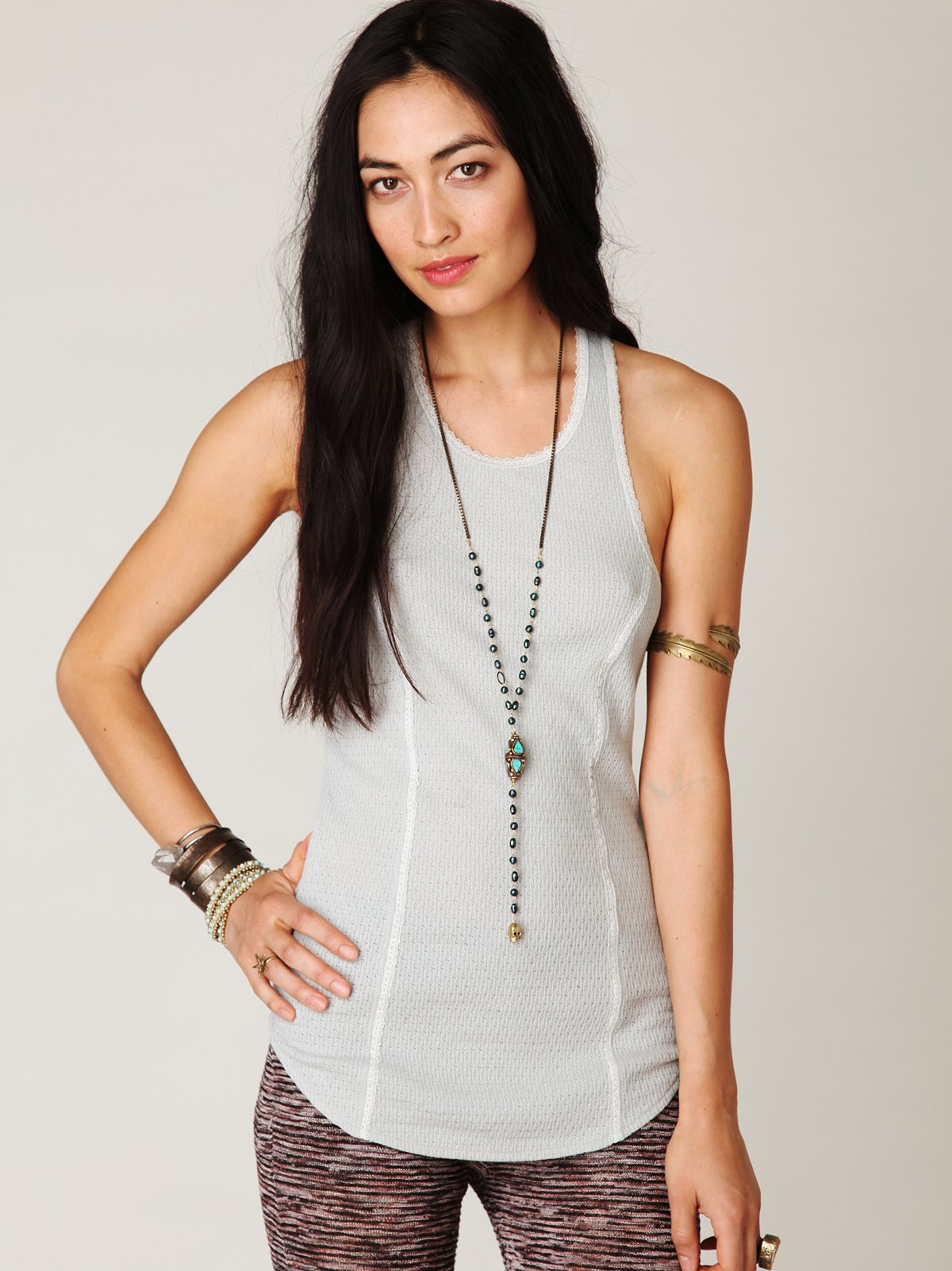Lacey Knit Tank Solid