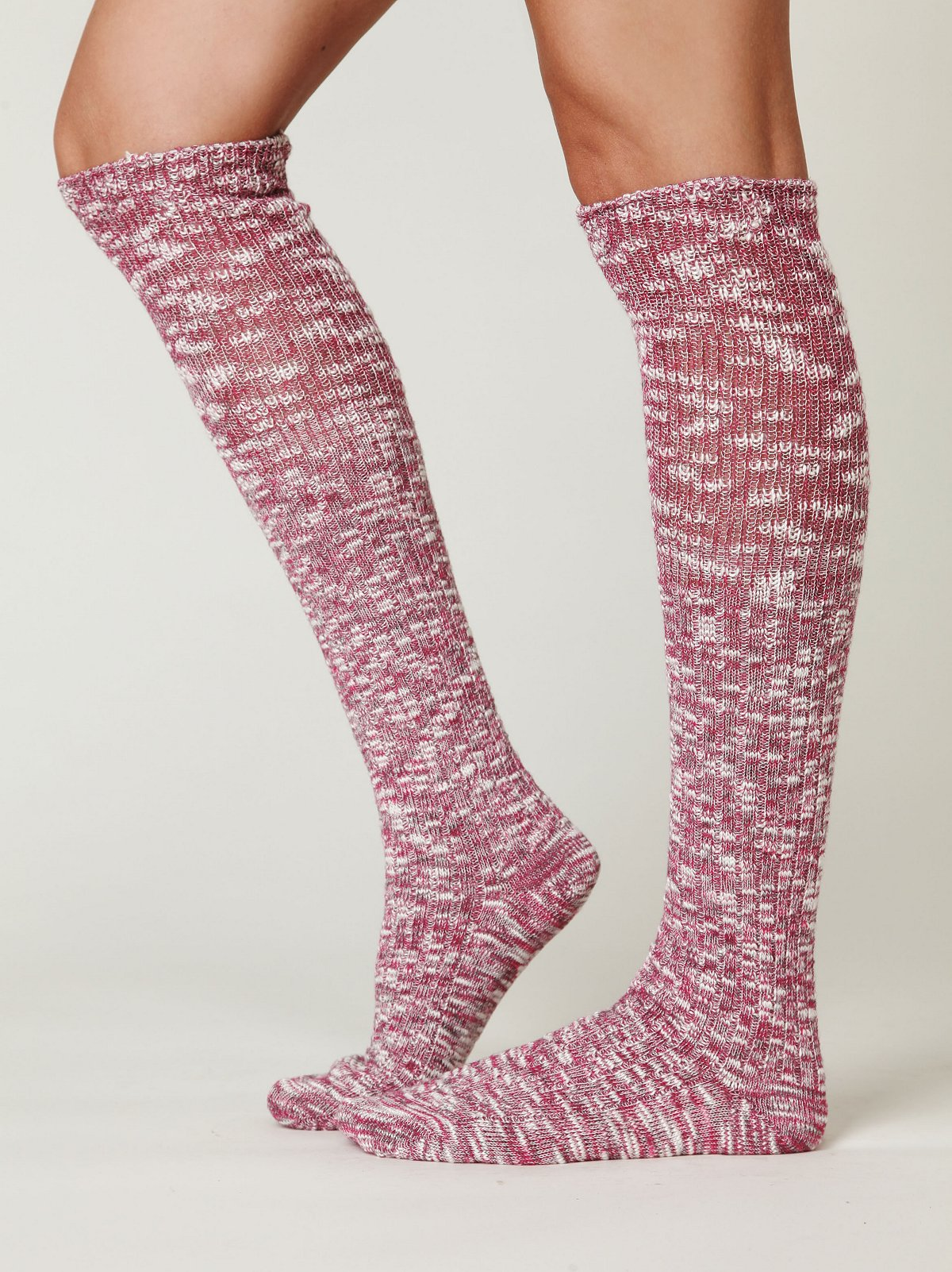 Heather Marl Slouch Sock
