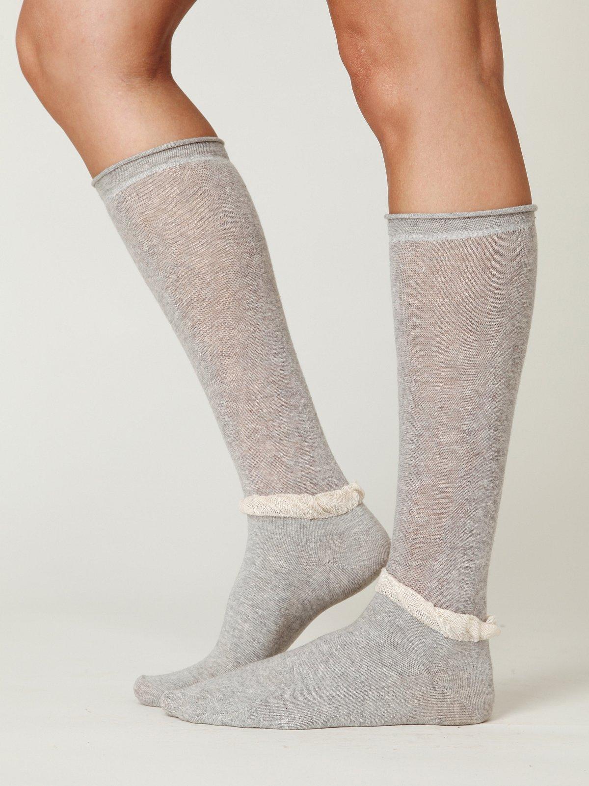 Double Ruffle Slouch Sock
