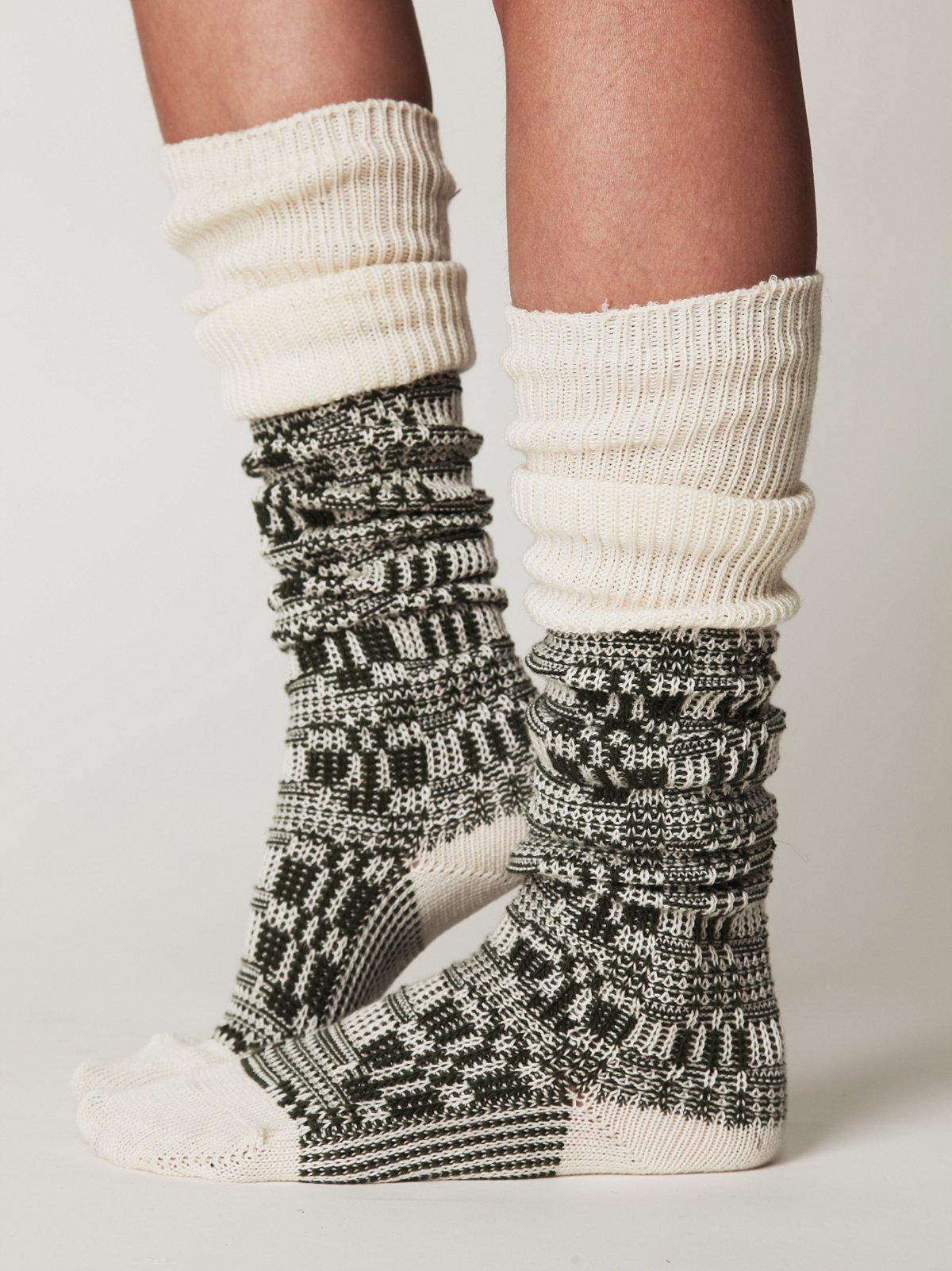 Textured Tall Sock