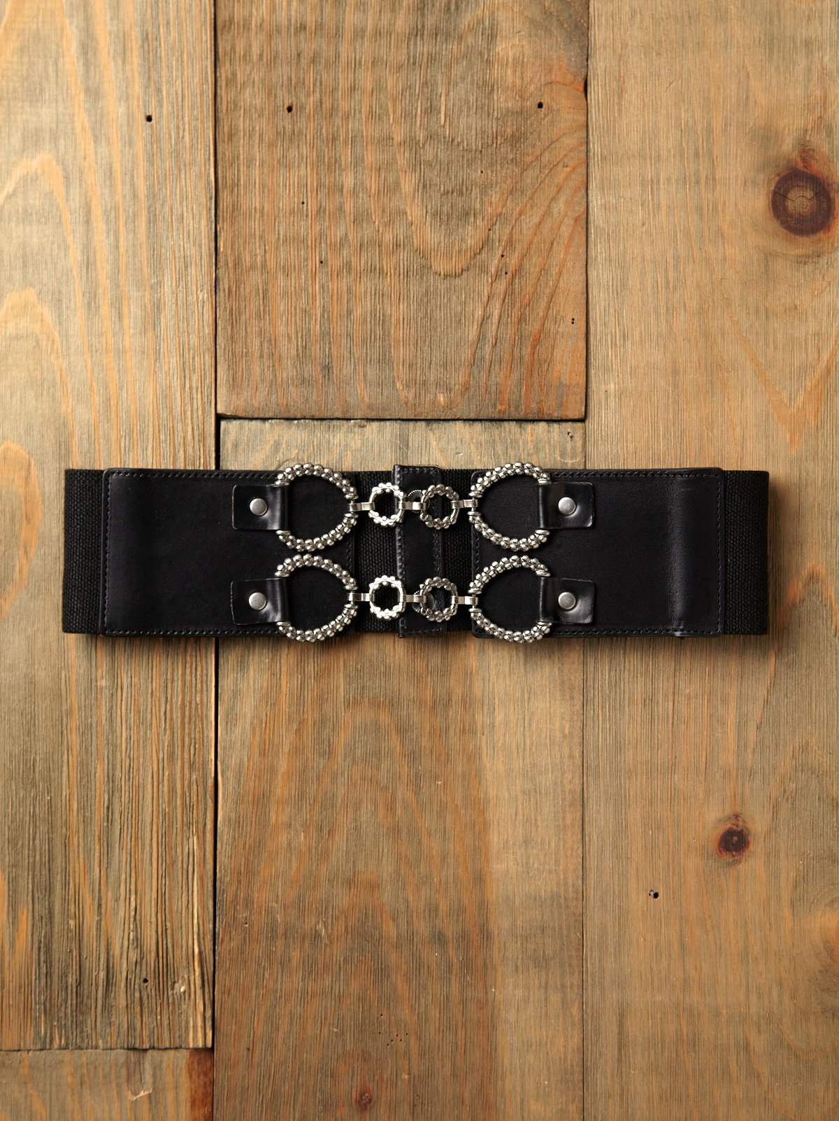 Pebbled Lock Waist Belt