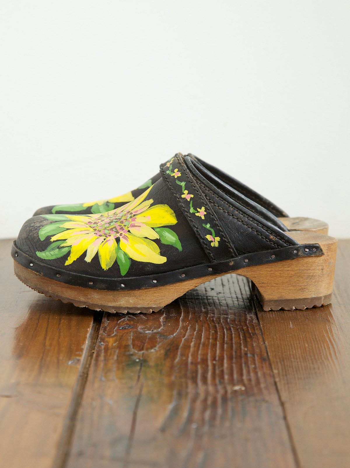 Vintage Hand Painted Clogs