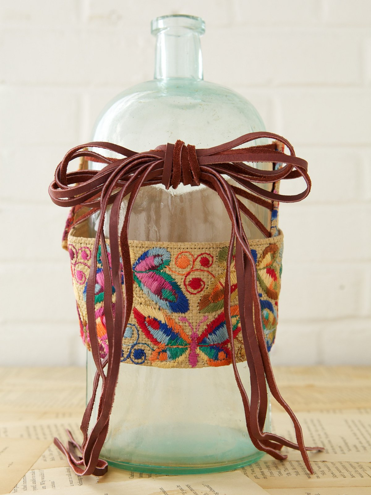 Vintage Embroidered Waist Belt