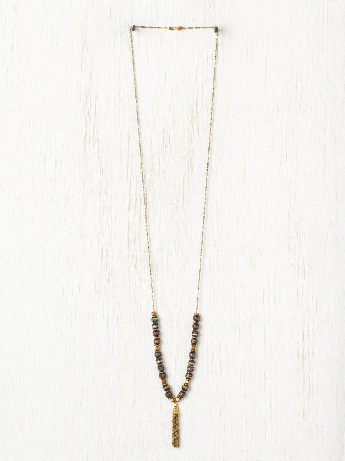 Talula Rosewood Tassle Necklace