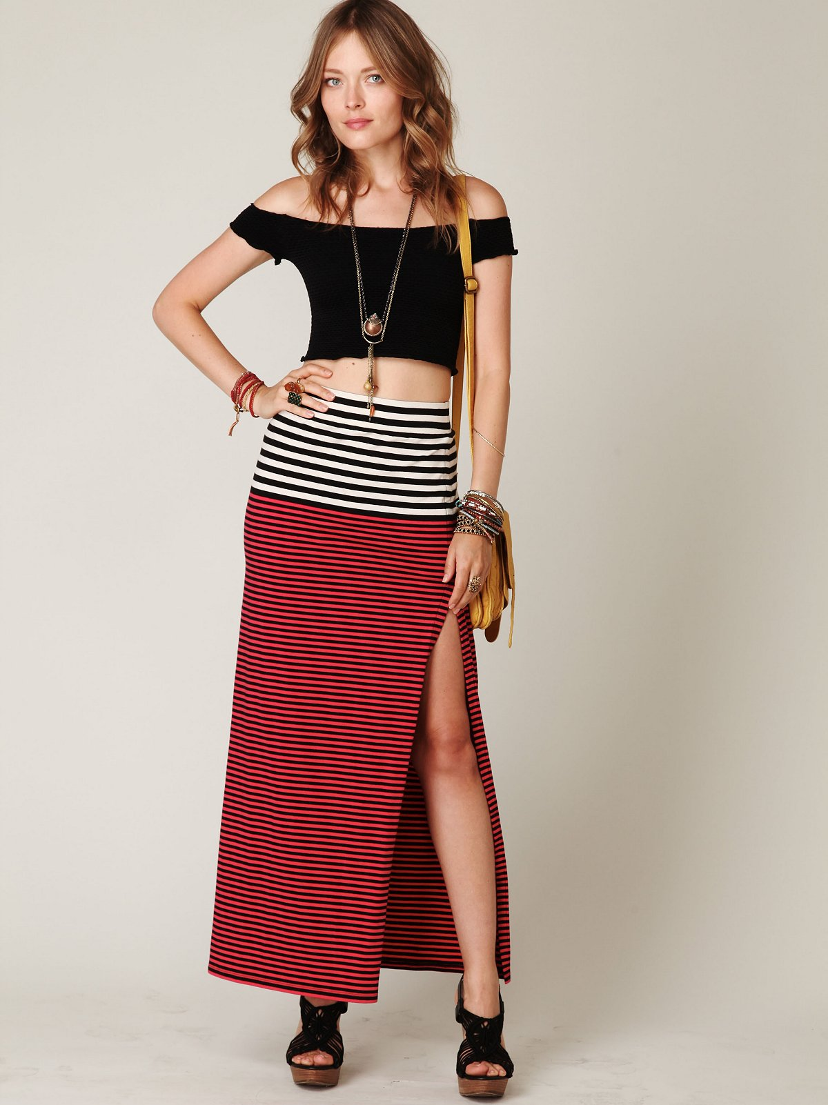 Engineered Stripe Maxi