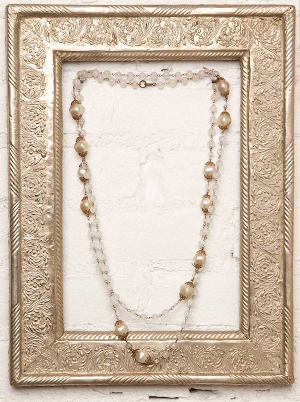 Vintage Pearl and Gold Necklace