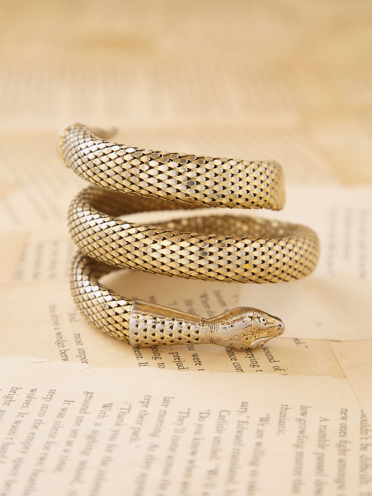 Vintage Chainmail Snake Arm Cuff
