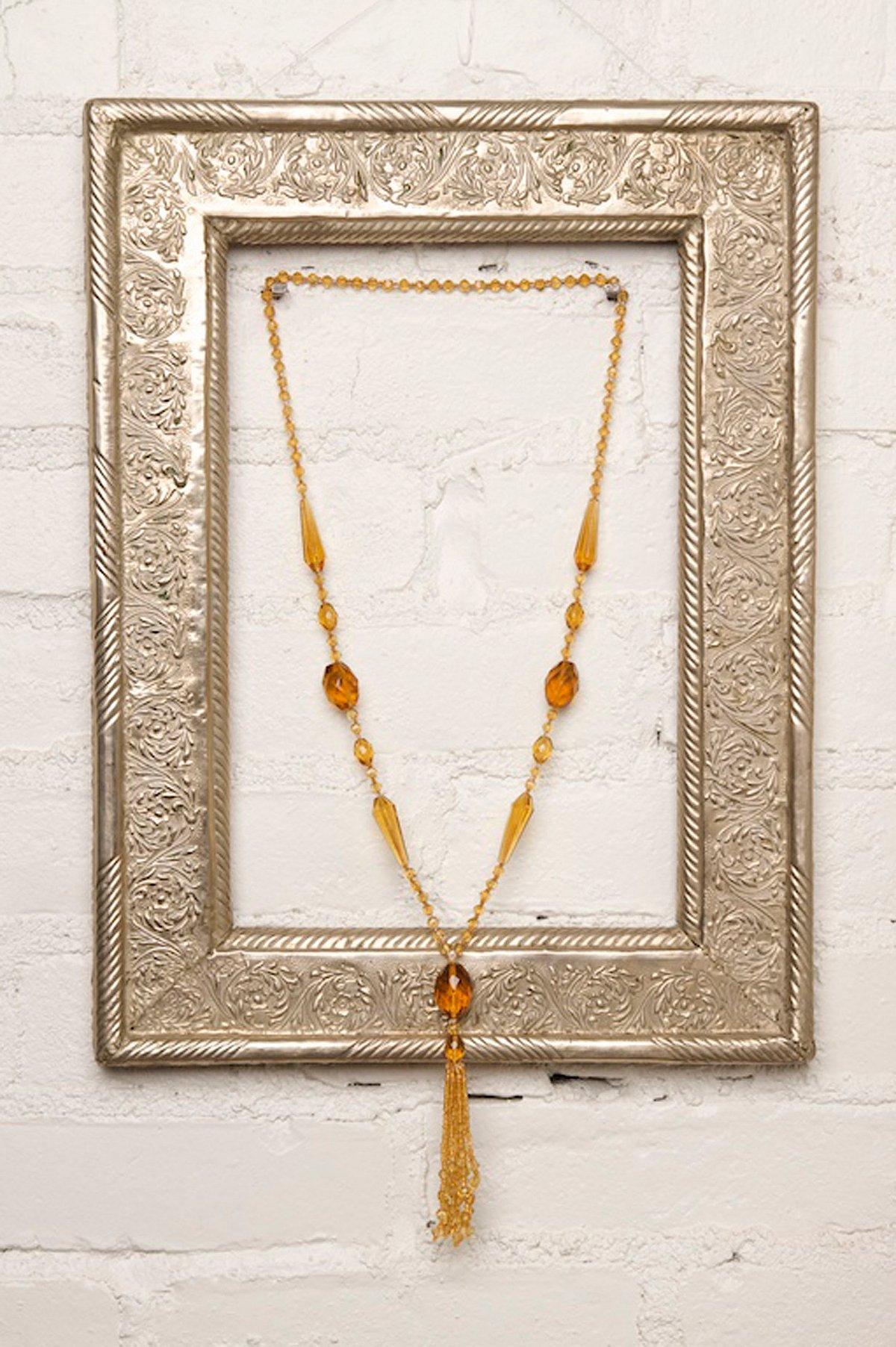 Vintage Amber Czech Crystal