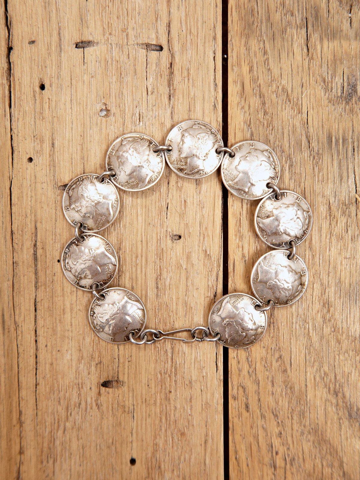 Vintage Linked Coin Bracelet