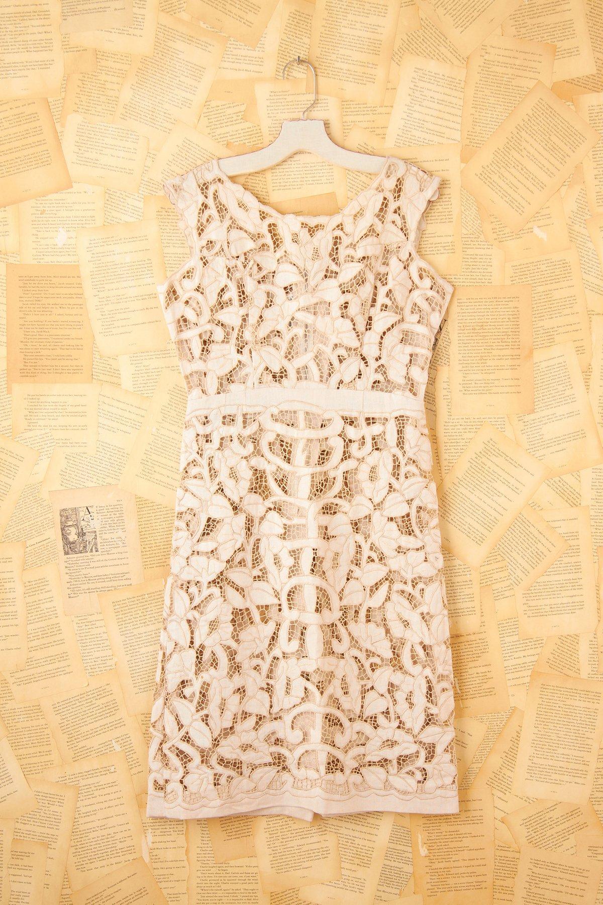 Vintage 1980s Sheer Lace Dress